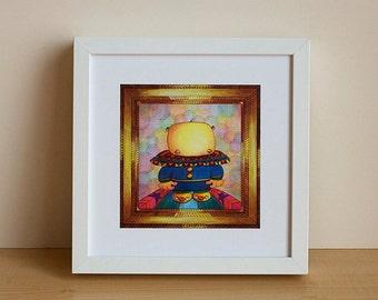 "Illustration, children Illustration, Illustration, bear, digital print, Decoration, little bear ""Emile little bear"""