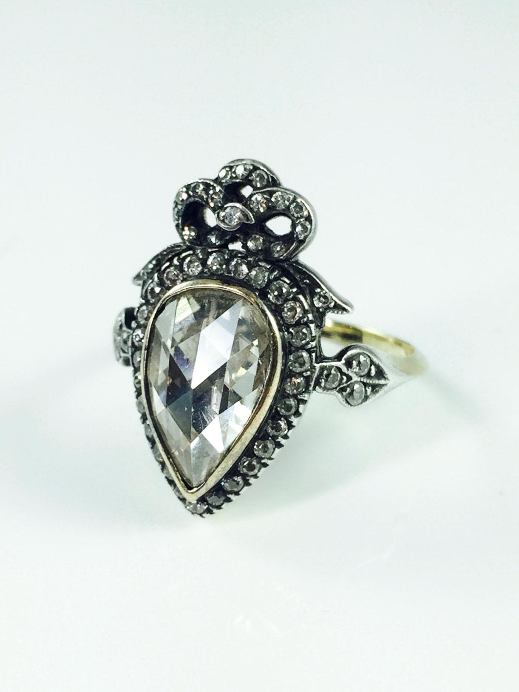 sale carat antique georgian victorian engagement ring. Black Bedroom Furniture Sets. Home Design Ideas