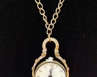 Antique Style Watch on a Chain Necklace