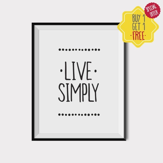 Live simply yoga quotes quote wall decor minimalist art for Live simply wall art