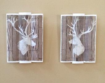 Elk / Deer Wooden Wall Decor