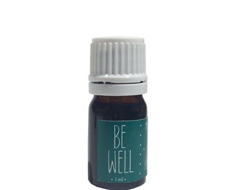 Be Well Essential Oil Blend, 100% Organic Essential Oils, Cold & Flu, Safe for Kids