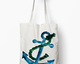 Anchor beach bag, tote bag, Nautical bag