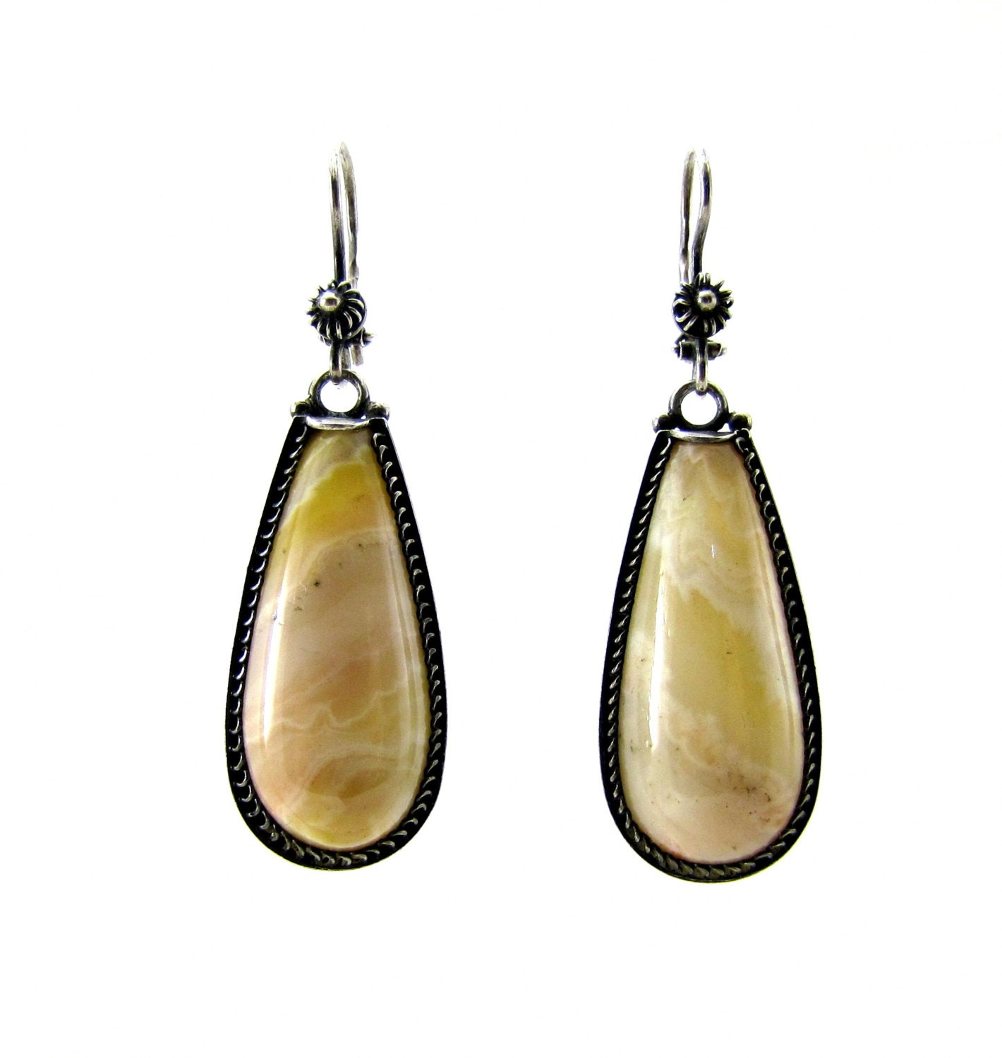 agate earring chagne earring for bridesmaid ivory earring
