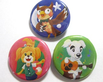 Animal Crossing Button Set