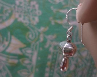 Attractive sterling silver drop earrings