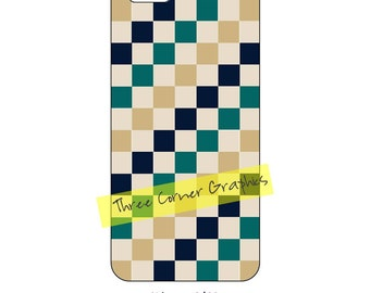 iPhone 6 printable case design (natural Earth colors in checkerboard pattern); DIY print at home iPhone accessories for 6 or 6S