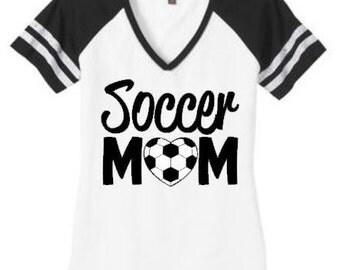 Soccer mom shirt, Soccer mom top, Soccer Heart