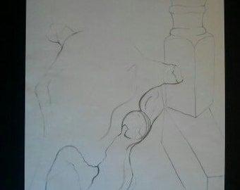 Still Life Line Drawing