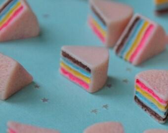 Rainbow Cake Cabochons