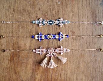 Vijay - Copper and blue Bracelet