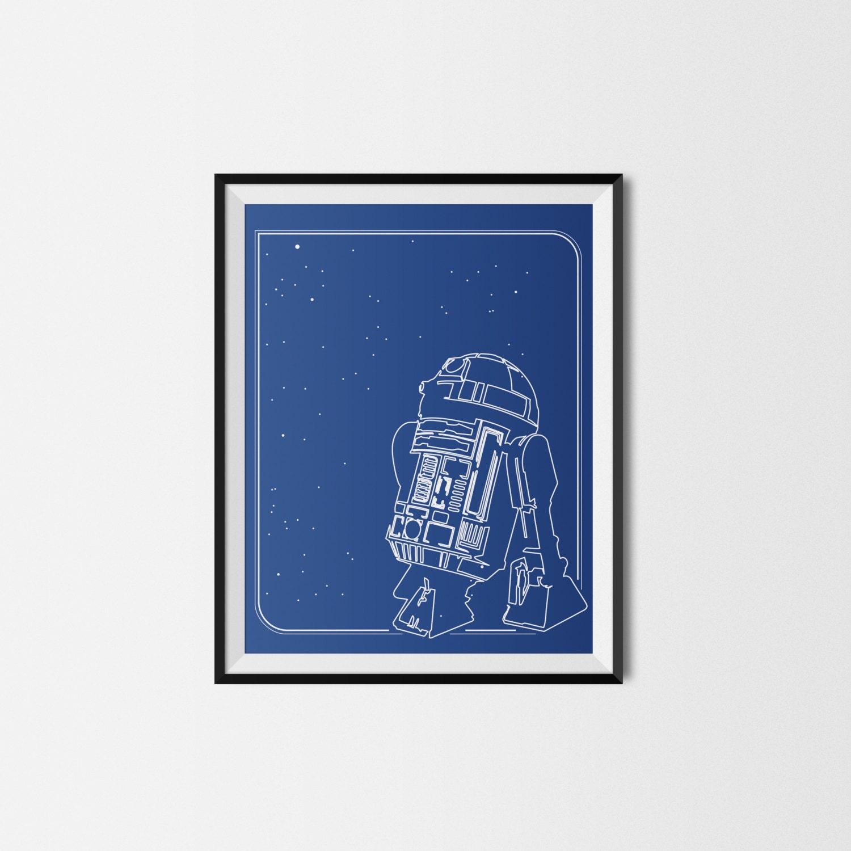 R2d2 Wall Art Star Wars Wall Art Star Wars Nursery Decor
