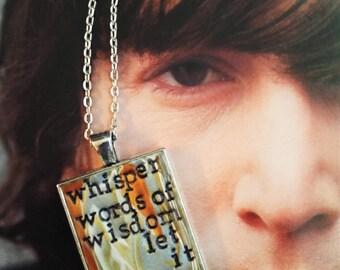 Beatles Let It Be Pendant Necklace