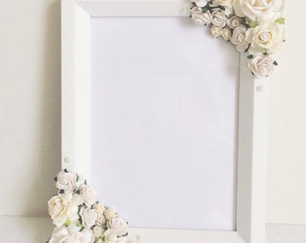 Floral photo frame//wedding gift//gifts for her