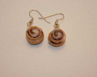 Miniature Cinnamon Roll Earrings