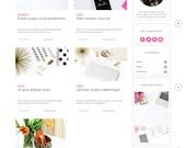 Free Installation - Responsive blogger template lifestyle fashion beauty food travel feminine blog theme -Daphne ( Free Installation )