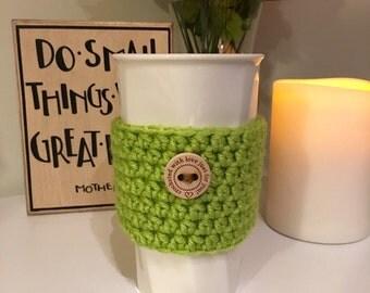 Lime Green Coffee Cozy