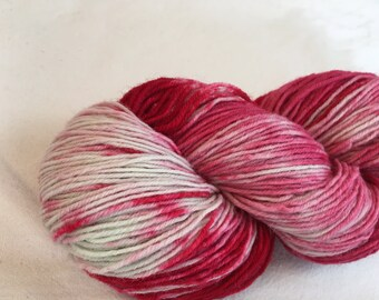 Hand-dyed sock yarn think pink