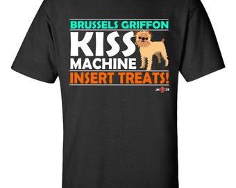 Funny Brussels Griffon | Funny Brussels Griffon T-shirt | Brussels Griffon - Kiss Machine