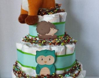 Woodland Friends Diaper Cake.
