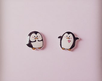 Penguin earrings, Penguin stud earrings, animal earrings,earrings,