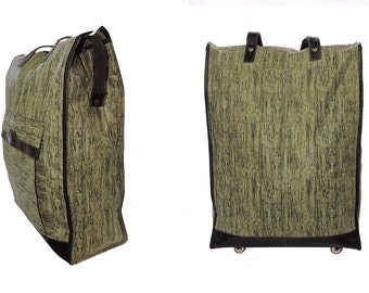 Trolley Bag- Travel Foldable trolley bag-Rolling luggage bag-Trolley Wheels-Utility Tote-Shopping Bag-Leather bag-Foldable Bag-Luggage Bag