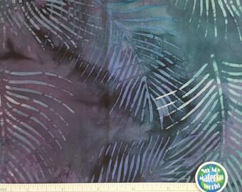"Batik Fabric, Blue Batik, 100% cotton, Quilting Fabric, Remnant 21"" x 44"""