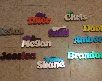 Hand-Cut Acrylic Mirror Plated Names