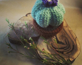 Knitted Cacti Pin Cushion / Decor / Paperweight