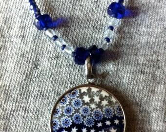 Murano stars glass pendant