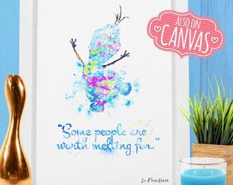 Olaf Frozen Disney Quotes, Winter Wonderland Decor, Frozen Nursery art, Frozen Wall Print Nursery Quote, Disney Castle Quote Nursery Decor