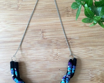 AGUA embroidered necklace