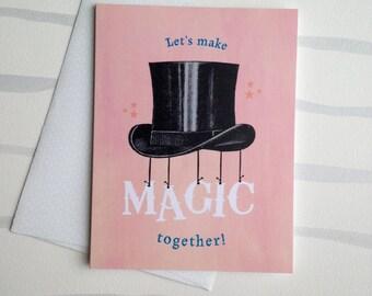Make Magic Together Valentine Card