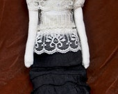 Vampyre with Veil Doll Hand Made and Painted