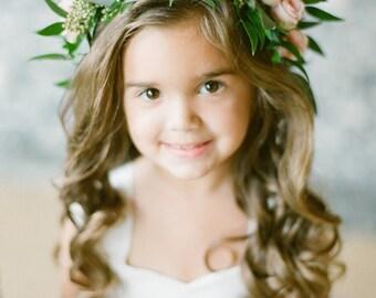 As Seen on Stylemepretty Flower Girl Dress Floor Length