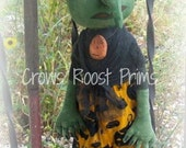 Witch Wanda doll 131eHalloween Crows Roost Prims epattern SALE immediate download