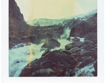 Norway, Old Polaroids, SX70, Polaroid Photography, Glacier, Waterfalls, Rocky, Mountains, Fjord, SX 70, Landscape Photography, Vintage