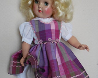 """For 19"""" Ideal P-92 Toni Doll - Three Button Jumper Dress Inspired by Original"""