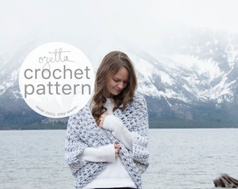 Crochet Pattern / Chunky Oversized Cardigan, Sweater, Shrug, Kimono / THE OOMINGMAK