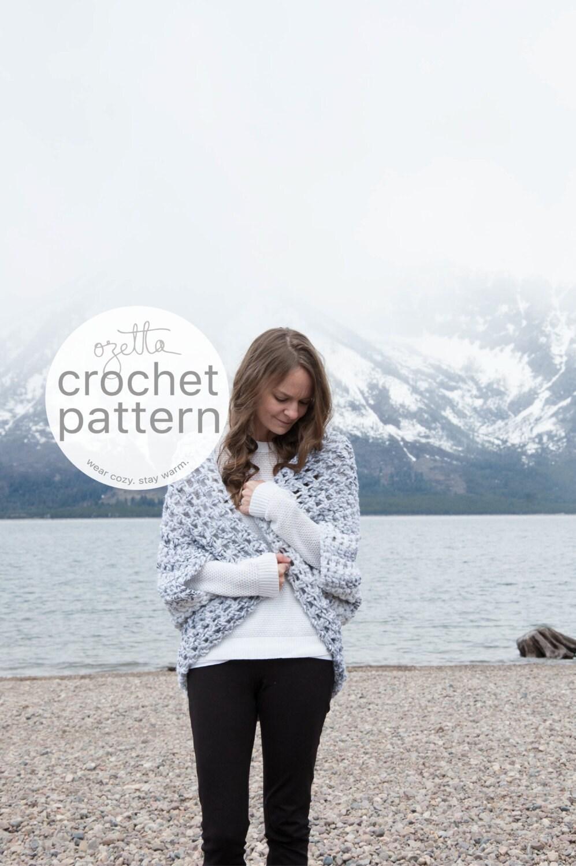 Crochet pattern chunky oversized cardigan sweater shrug crochet pattern chunky oversized cardigan sweater shrug kimono the oomingmak bankloansurffo Choice Image