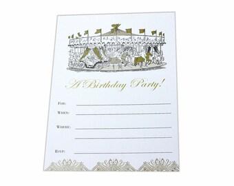 Birthday Party Fill In Invitation