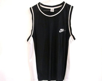 90s NIKE Black Oversized Mesh Tank Top Size XXL Made in USA
