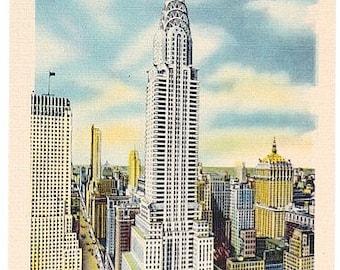 Vintage New York City Postcard - The Chrysler Building (Unused)