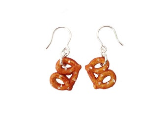 Pretzel Earrings -Salted