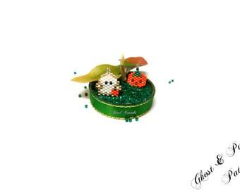 Mini Ghost & Pumpkin Halloween Charms / Pendant / Earring Bead PATTERNS   Digital File