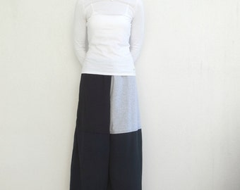 Palazzo Pants Wide Leg Pants Women's Long Pants T-Shirt Pants Black Gray Recycled Tee Pants Handmade Pants Cotton Pants Eco Chic Boho ohzie