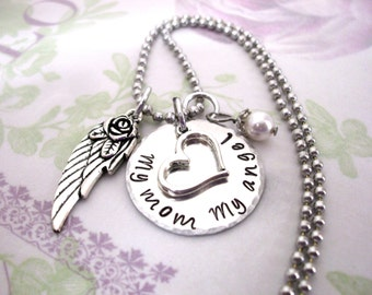 Mom Memorial - Memorial Necklace - Memorial Keychain - Bereavement - My Angel - Loss of Grandma - Loss of Nana