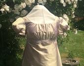 Regency Dress, Ball Gown. Jane Austen. Champagne/lilac pure SILK