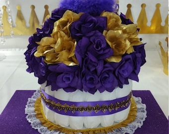 baby shower girls purple and gold baby shower theme and decorations 39