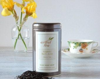 Organic Earl Grey Black Tea • 4 oz. Tin • Luxury Loose Leaf Blend